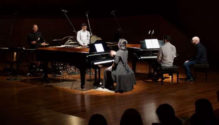 pianos y percusion